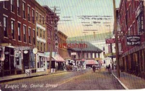 BANGOR, ME CENTRAL STREET Blake, Barrows and Brown, Bankers. The Puritan 1907