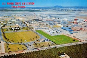 YUMA ARIZONA~U.S MARINE CORPS AIR STATION-AERIAL VIEW POSTCARD