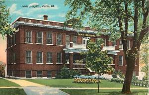 Paris Hospital, Paris, IL, Illinois,1953 Linen
