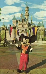 Disneyland, Anaheim Cal., Fantasyland, Mickey Mouse & Sleeping Beauty's Castle