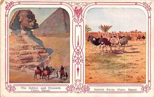 Cairo Egypt, Egypte, Africa Sphinx and Pyramid Cairo Sphinx and Pyramid