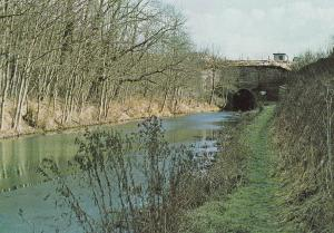 Kennet & Avon Canal Savernake Bruce Tunnel Boat Postcard