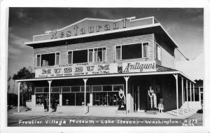 Lake Stevens Washington Frontier Village Museum 1950s RPPC Photo Postcard 12788