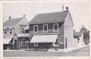 First Brick House West Of Mississippi1799 Sainte Genevieve Missouri