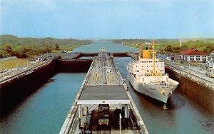 Gatun Locks view from Control Tower Panama Tape on back