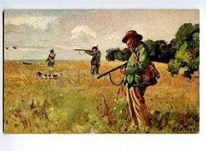 127985 HUNTER HUNT Duck ENGLISH SETTER by PREEN vintage PC