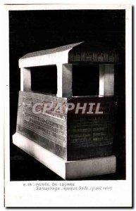 Old Postcard Musee Du Louvre Sarcophagus Era Saite Egypt Egypt