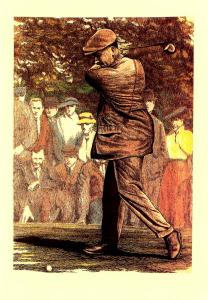 Famous Golfers - Harry Vardon. - Artist Signed: David Joy, St. Andrews  (Size...