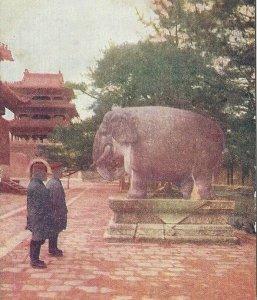 CE-002 Manchuria, Murden Imperial Mausoleum Postcard Divided Back Elephants