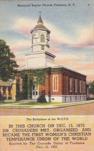 Historical Baptist Church, Fredonia, New York, 30-40s