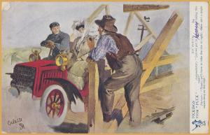 Tuck, Oilette, Automobilist Can we get there from here? Nope-1907