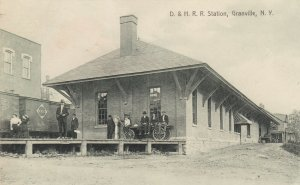 GRANVILLE , New York , 1908 ; D.& H. Railroad Station