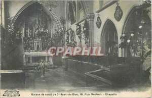 Old Postcard Sante House of St John of God Chapel Street Oudinot Paris
