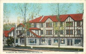 Hollister Missouri~Ye English Inn~Fireproof Hotel~Shop Windows~RR Tracks~1920s