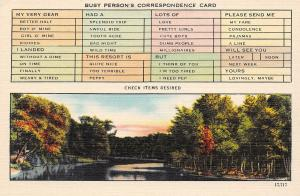 USA N.C. Asheville Busy Person's Correspondence Card river forest nature