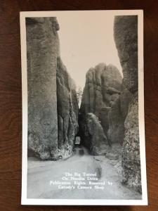 The Big Tunnel On Needles Dr., Black Hills, SD by Canedy's Camera Shop RPPC C13
