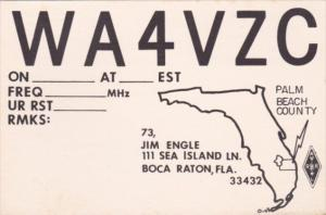 Amateur Radio WA4VZC Jim Engle Boca Raton Florida