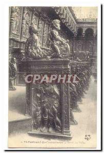 Saint Bertrand de Comminges Old Postcard Detail stalls