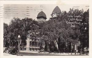 Indiana Crown Point Lake County Court House 1952 Real Photo