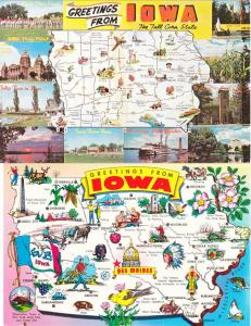(2 cards) Greetings from Iowa - Maps