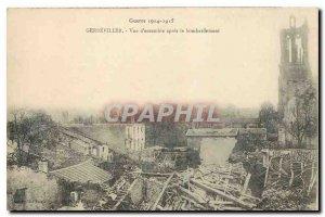 Old Postcard War 1914-1915 Gerbeviller Overview after bombing