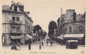 L'Avenue De La Gare, Nevers (Nievre), France, 1900-1910s