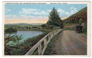 Mohawk Trail, Mass, Deerfield River And Landscape Near Charlemont