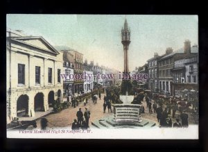 h2224 - Isle of Wight - Cattle Market at Victoria Memorial, Newport  - postcard