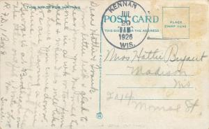 Keenan Wisconsin~Path Along Web Creek~1926 Greetings Postcard