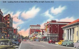 Sumter South Carolina~Main Street North~Kress~Post Office~Home Furniture~1940s