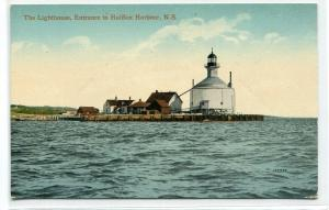 Lighthouse Entrance Halifax Harbour Harbor Nova Scotia Canada postcard