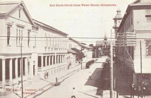 british guiana, GEORGETOWN, New North Street from Water Street (1910s) Postcard