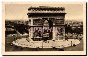 Old Postcard Paris L & # 39Arc De Triomphe And Tomb Of Unknown Soldier