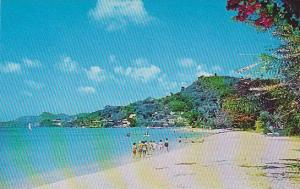 One of the beautiful beaches, West Indies, 40-60s