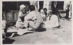 Indian Street Face Painters Healers Antique Real Photo Postcard