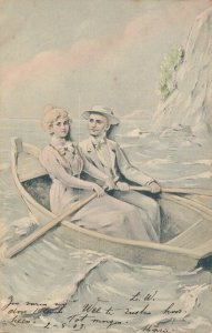 Romantic Couple Sailing and Rowing 03.70