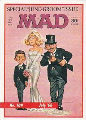 Lime Rock Trade Card Mad Magazine Cover Issue No 104 July 1966