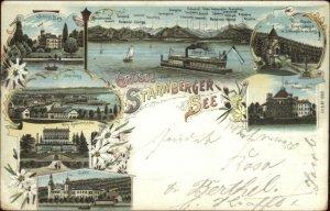 Grusse vom Starnberger See Starnberg Germany 1898 Used Postcard
