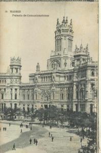 Postal B/N 0217 : Palacio de Comunicaciones de Madrid