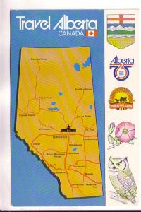 Travel Map of Alberta with Pictures