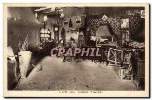 Old Postcard G d O Interior Auvergne Folklore