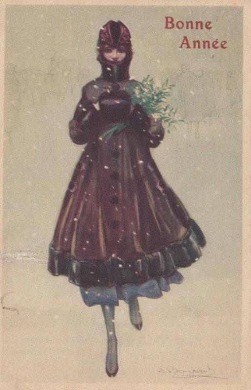 Art Deco ; BOMPARD ; Fashion Woman Portrait #6 , 1919