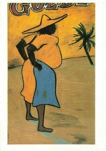 Art Postcard, The Fat Black Woman by Mark Foreman IO6