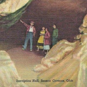 Seneca Caverns Inscription Hall Bellevue Ohio Earthquake Glacier Cave Curteich