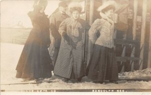 G32/ Randolph Nebraska RPPC Postcard 1909 Women Ollie Lets Go