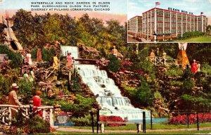 Illinois Chicago Olson Rug Company Park Waterfalls and Rock Garden