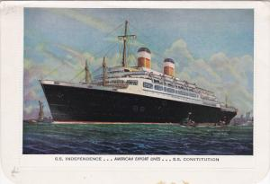 American Export Lines Ocean Liners  INDEPENDENCE & CONSTITUTION , 40-50s