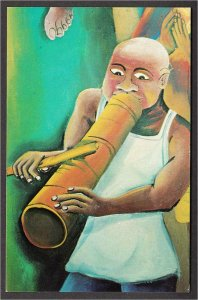 Haiti Vaccine Player in Wedding at Cana Episcopal Cathedral Mural Art Postcard
