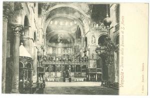 Italy, Venice, Venezia, Interno della Basilica di S. Marco, early 1900s Postcard