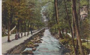 Anlagenpartie an der Enz, Wildbad, Baden-Wurttemberg, Germany 1910